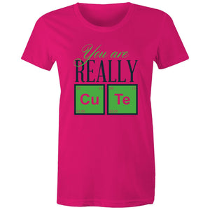 Maple Tee – You are really cute - Black Text - Women's