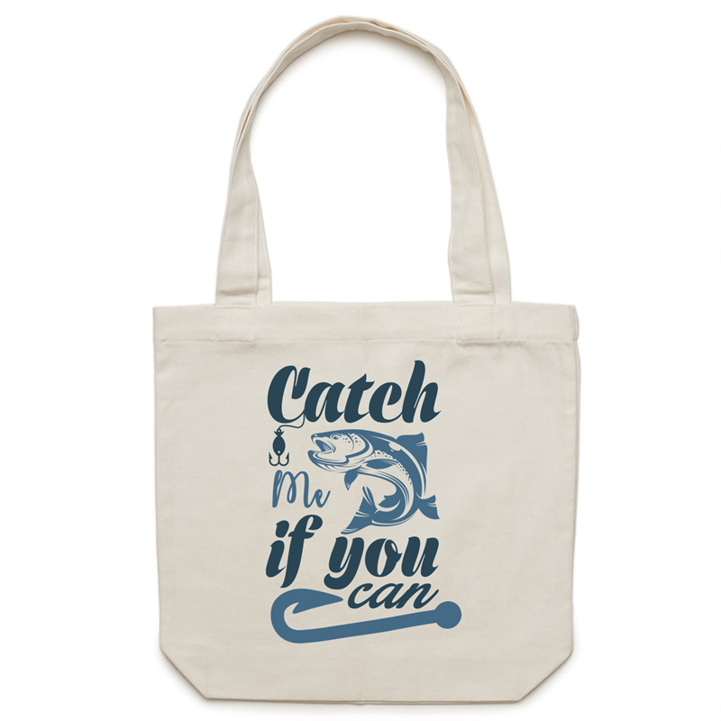 Canvas Tote Bag - Catch me if you can – Carrie