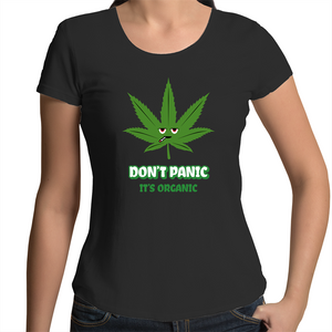 Scoop Neck T-Shirt - Don't panic it's organic – Women's