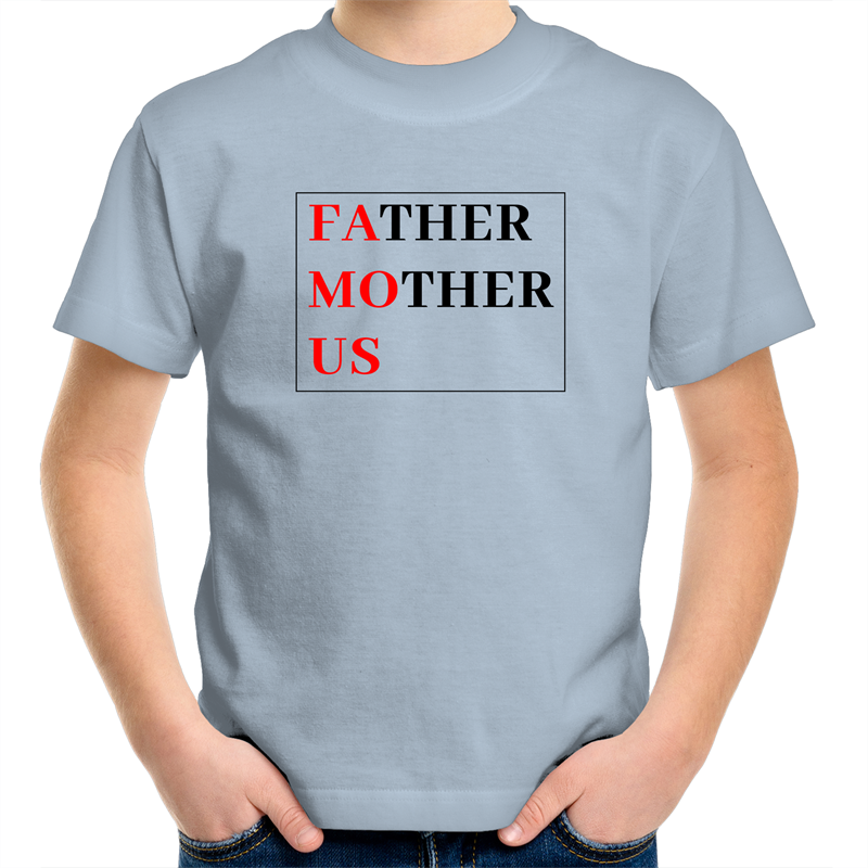 Sportage Surf - Father Mother Us FAMOUS - Black Text - Kids Youth T-Shirt