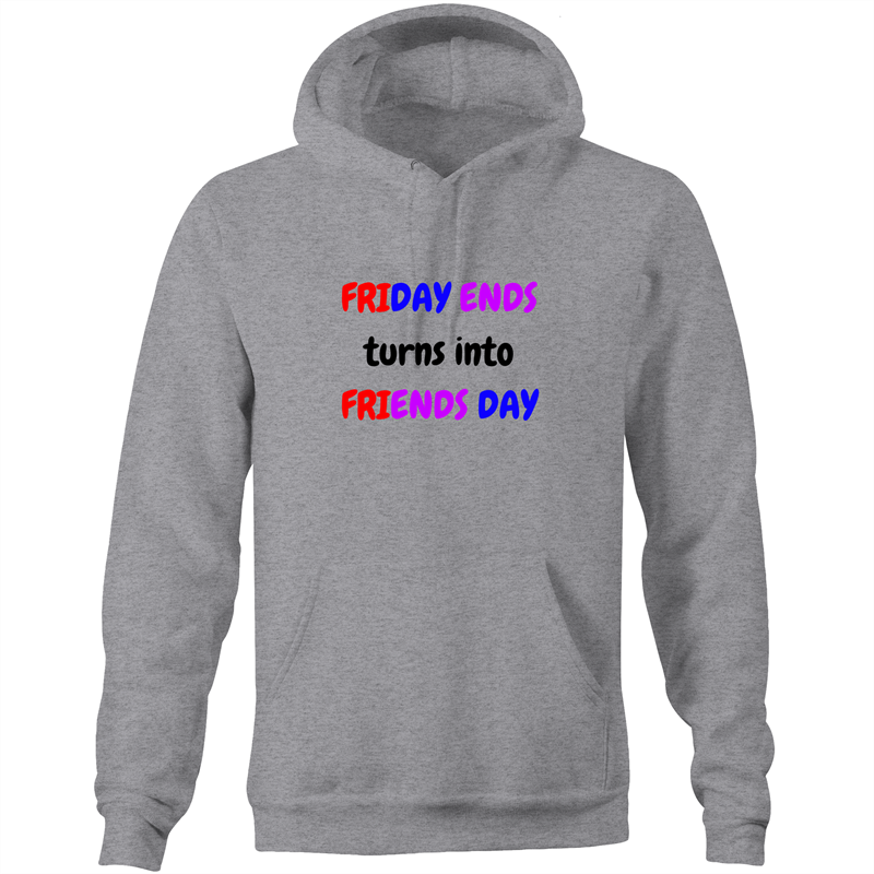 Pocket Hoodie Sweatshirt - Friends Day - Unisex
