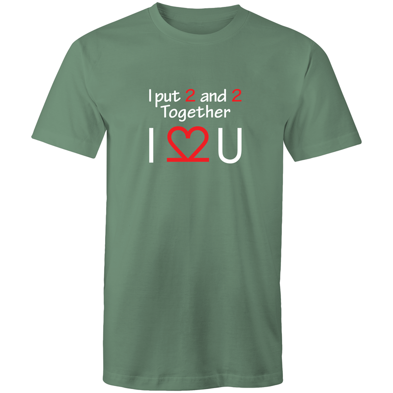 Colour Staple T-Shirt – I Love You - White text - Mens