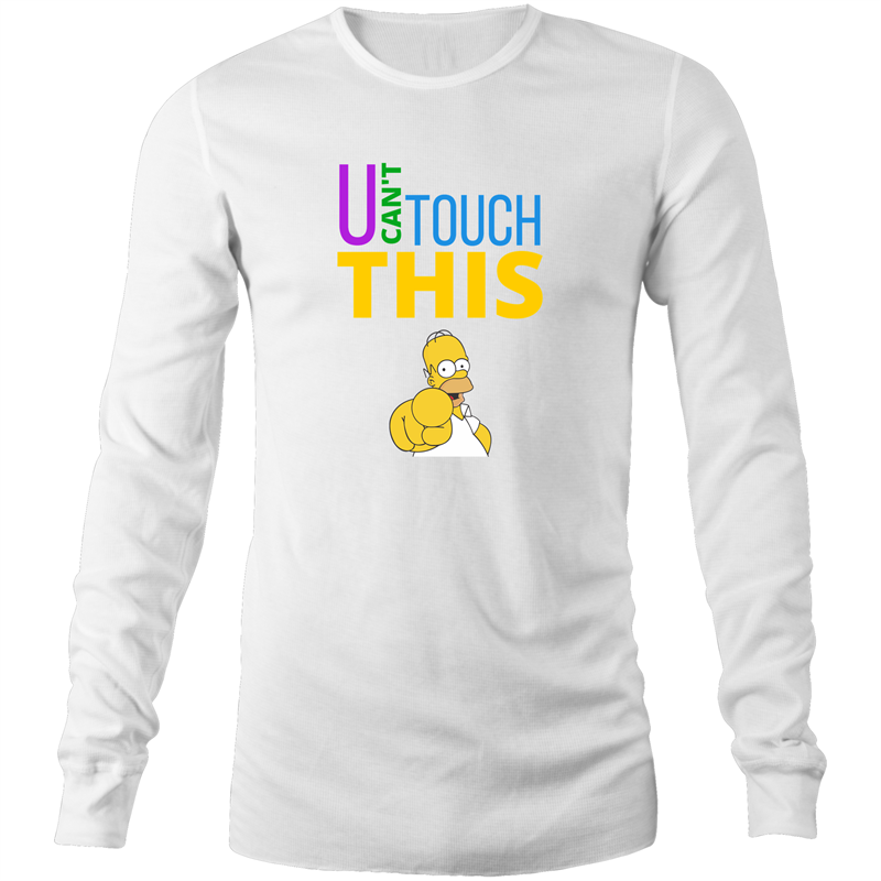 Long Sleeve T-Shirt - U can't touch this - Homer - Mens