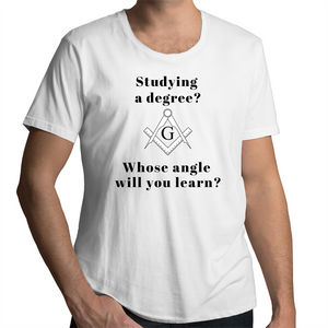 Scoop Neck T-Shirt – Studying a degree - WHITE SHIRT ONLY - Mens