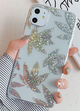 Load image into Gallery viewer, Art Plating Leaf Glitter Bling Cover Case For Apple Iphone 11 Pro Max X Xr Xs Max SE