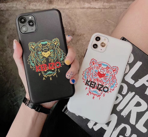 France Paris Kenzo Tiger Cover Case For Apple Iphone 12 Pro Max Mini X Xr Xs 6 7 8