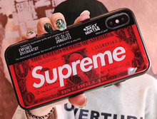 Load image into Gallery viewer, Japan Supreme Dollar Metro Card Coque Cover Case For Apple Iphone 11 Pro Max X Xr Xs 6 7 8