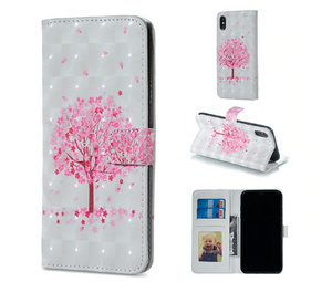 Flower Flip Cover Card Slot Wallet Shell Hülle funda custodia Coque Case For Apple Iphone 6 7 8 X XR XS Max 11 Pro