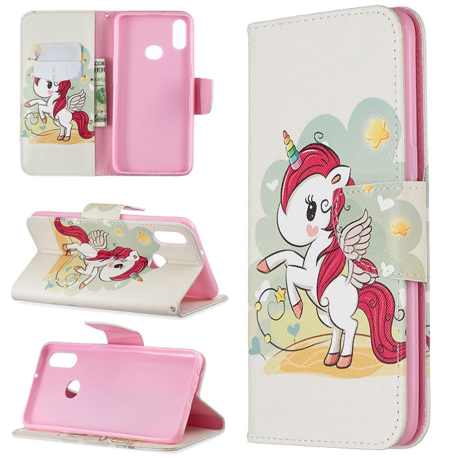 Wallet Card Slot Licorne Unicorn Flip Cover Shell Hülle funda custodia Coque Case For Apple Iphone 6 7 8 X XR XS Max 11 Pro