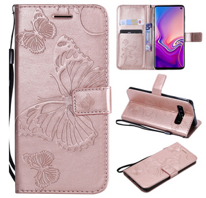 Butterfly Flip Cover Card Slot Wallet Case For Samsung Galaxy S20 S20 Ultra S10 S9 S8