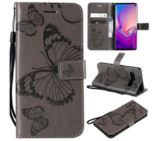 Load image into Gallery viewer, Butterfly Flip Cover Card Slot Wallet Case For Samsung Galaxy S20 S20 Ultra S10 S9 S8