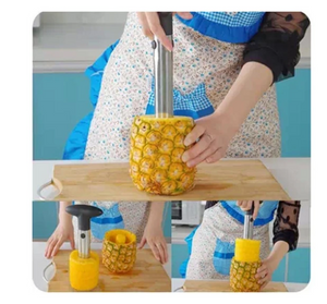 Easy PineApple Cutter Peeler Corer Slicer Accessories Kitchen Tools Stainless