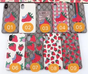 Gucci Strawberry Case For Apple Iphone 12 Pro Max Mini 11 X Xr Xs 7 8 SE
