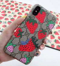 Load image into Gallery viewer, Gucci Strawberry Case For Apple Iphone 12 Pro Max Mini 11 X Xr Xs 7 8 SE
