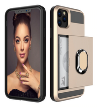 Load image into Gallery viewer, Shockproof Ring Holder Slide Card Slot Case For Apple Iphone 12 Pro Max X Xr Xs SE 6 7 8 11