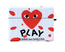 Load image into Gallery viewer, Comme Des Garçons CDG Love Play Heart Case For Apple Airpods Pro Airpods 1 2