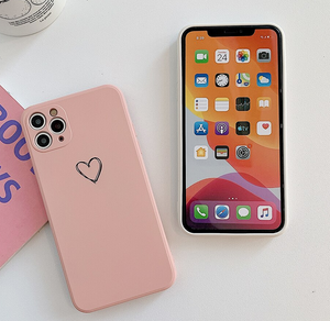 Cute Love Heart Couple Case For Apple Iphone 12 Pro Max 11 X Xr Xs SE 7 8 Plus