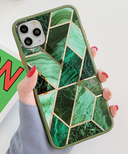 Load image into Gallery viewer, Electroplated Geometric Marble Case For Apple Iphone 12 Pro Max 11 X Xr Xs SE