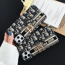 Load image into Gallery viewer, Christian Dior Wallet Slot Case For Apple Iphone 12 Pro Max Mini 11 SE Xr Xs 7 8