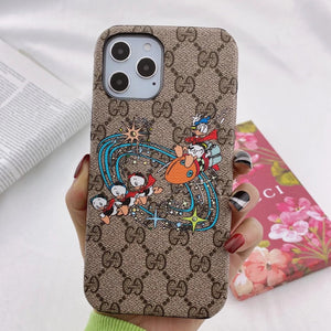 Italy Gucci Donald Duck Case For Apple Iphone 12 Pro Max Mini 11 X Xr Xs 7 8