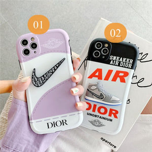 Nike Air Jordan Dior Sneakers Case For Apple Iphone 12 Pro Max Mini 11 SE X Xr Xs 7 8