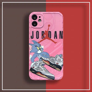 Nike Air Jordan 23 Tom & Jerry Case Apple Iphone 12 Pro Max Mini 11 SE X Xr Xs 7 8