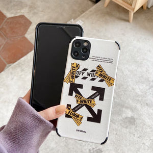 Milan Off White Case For Apple Iphone 12 Pro Max Mini 11 SE X Xr Xs 7 8