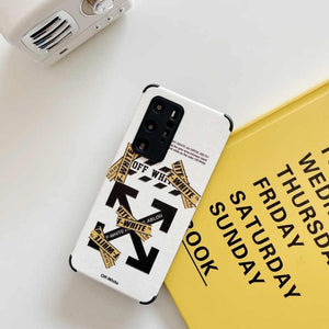 Off White Cover Case For Huawei P30 P40 Pro Mate 40 30 Nova