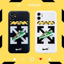 Load image into Gallery viewer, Nike Air Sneakers Off White Case For Apple Iphone 12 Pro Max Mini 11 SE 7 8 X Xr Xs