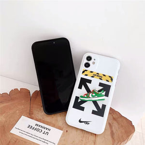 Nike Air Sneakers Off White Case For Apple Iphone 12 Pro Max Mini 11 SE 7 8 X Xr Xs