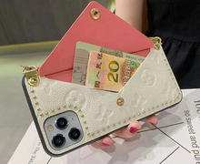 Load image into Gallery viewer, Luxury Paris France Louis Vuitton Wallet Bag Case For Apple Iphone 11 Pro Max SE Xr Xs X 7 8