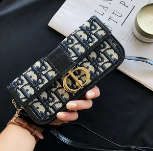 Universal Christian Dior Wallet Bag HandBag Case For Iphone Samsung Huawei Xiaomi Oppo Vivo Realme OnePlus