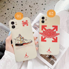 Load image into Gallery viewer, Nike Air Jordan Off White Case For Apple Iphone 12 Pro Max Mini SE 11 X Xr Xs 7 8