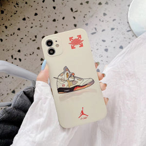 Nike Air Jordan Off White Case For Apple Iphone 12 Pro Max Mini SE 11 X Xr Xs 7 8
