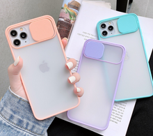 Load image into Gallery viewer, Shockproof Matte Clear Slide Camera Lens Protection Case For Apple Iphone 12 Pro Max X Xr Xs SE 6 7 8 11