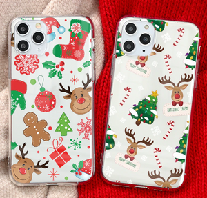 Merry Christmas Gift Snow Case For Apple Iphone 12 Pro Max 11 X Xr Xs SE 7 8 Plus