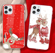 Load image into Gallery viewer, Merry Christmas Gift Snow Case For Apple Iphone 12 Pro Max 11 X Xr Xs SE 7 8 Plus