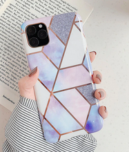 Load image into Gallery viewer, Splicing Geometric Marble Case For Apple Iphone 12 Pro Max 11 X Xr Xs SE