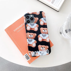 Luxury Italy Milan Moschino Cover Case For Apple Iphone 12 Pro Max Mini Xr Xs X 7 8
