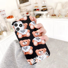 Load image into Gallery viewer, Luxury Italy Milan Moschino Cover Case For Apple Iphone 12 Pro Max Mini Xr Xs X 7 8