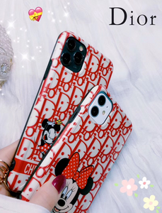Dior Mickey Disney Case For Apple Iphone 12 Pro Max Mini 11 SE Xr Xs 7 8
