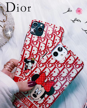 Load image into Gallery viewer, Dior Mickey Disney Case For Apple Iphone 12 Pro Max Mini 11 SE Xr Xs 7 8