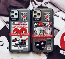 Load image into Gallery viewer, Comme Des Garçons CDG Love Play Heart Case For Apple Iphone 11 Pro Max SE X Xr Xs 7 8
