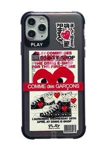 Comme Des Garçons CDG Love Play Heart Case For Apple Iphone 11 Pro Max SE X Xr Xs 7 8