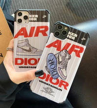 Load image into Gallery viewer, Nike Air Jordan Christian Dior Case For Apple Iphone 11 Pro Max SE X Xr Xs 7 8