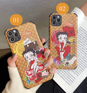 Louis Vuitton Supreme Betty Boop Case For Apple Iphone 12 Pro Max Mini 11 Xr Xs X 7 8