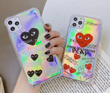 Load image into Gallery viewer, Love Play Heart Cdg Comme Des Garcons Case For Apple Iphone 11 Pro Max SE X Xr Xs 7 8