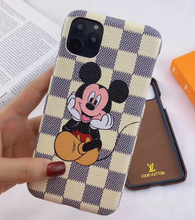 Load image into Gallery viewer, Louis Vuitton Mickey Minnie Case Apple iPhone 12 Pro Max Mini 11 Xr Xs X 7 8