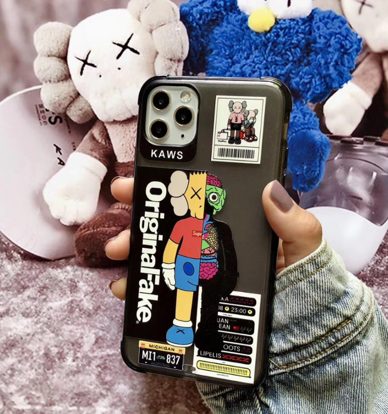Kaws Pop Art Original Fake Case For Apple Iphone 11 Pro Max SE X Xr Xs 7 8