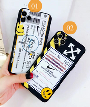 Load image into Gallery viewer, Off White Nike Air Boarding Pass Case For Apple Iphone 11 Pro Max SE X Xr Xs 7 8